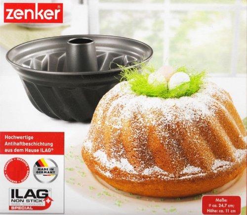 Zenker Gugelhupfform ILAG Backform Antihaftbeschichtung 230°C Maße: Ø ca. 24,7cm