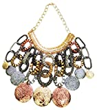 Mehrunnisa Chunky Silver Gold Oxidised T...