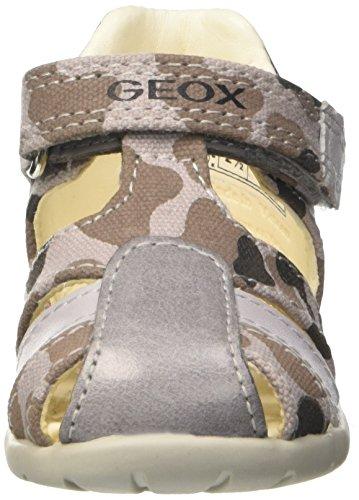 Geox B Kaytan H, Scarpe Primi Passi Bimbo Grigio (GREY/NAVYC0665)