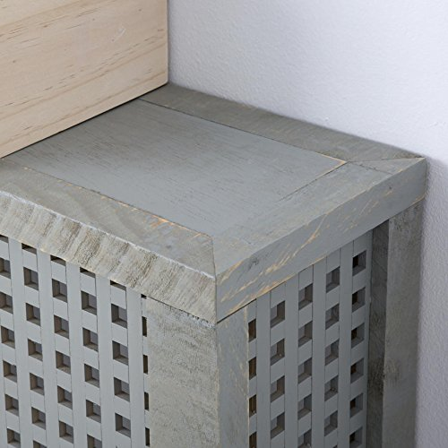 Nordic Heizkörperverkleidung 92,5Cm – Holz – 92x18x78 cm – Farbe Perlgrau - 4