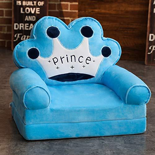 WAYERTY Kindersessel, Kindersofa Cartoon Mädchen und Jungen Geburtstagsgeschenk Spielzeug Faul Polstermöbel Cute Baby Kleines Sofa Sitz Mini-Sessel Waschbar-Blau 50x40x45cm(20x16x18inch) (Babys Cute Junge)
