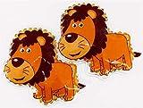2er Kühlpad Wärmepad mehrfach Kompresse Kühlkissen Kinder wärmen kühlen Löwe