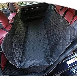 Ammonites Lowen étanche et antidérapant Housse de protection pour siège de voiture pour chiens animaux domestiques (Noir)