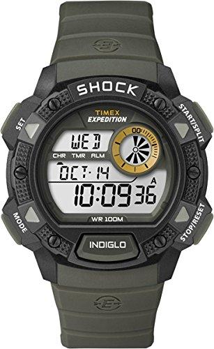 Timex T49975 Orologio da Polso, Quadrante Digitale da Uomo, Cinturino in Resina, Verde