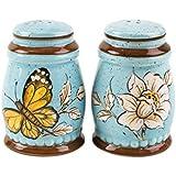 Chumbak Flora Butterfly Salt & Pepper Cellar- Blue
