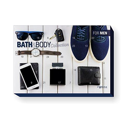 itenga XXL Adventskalender für Männer gefüllt Bath & Body for Men (Motiv Freizeit Accesoires Hipster)