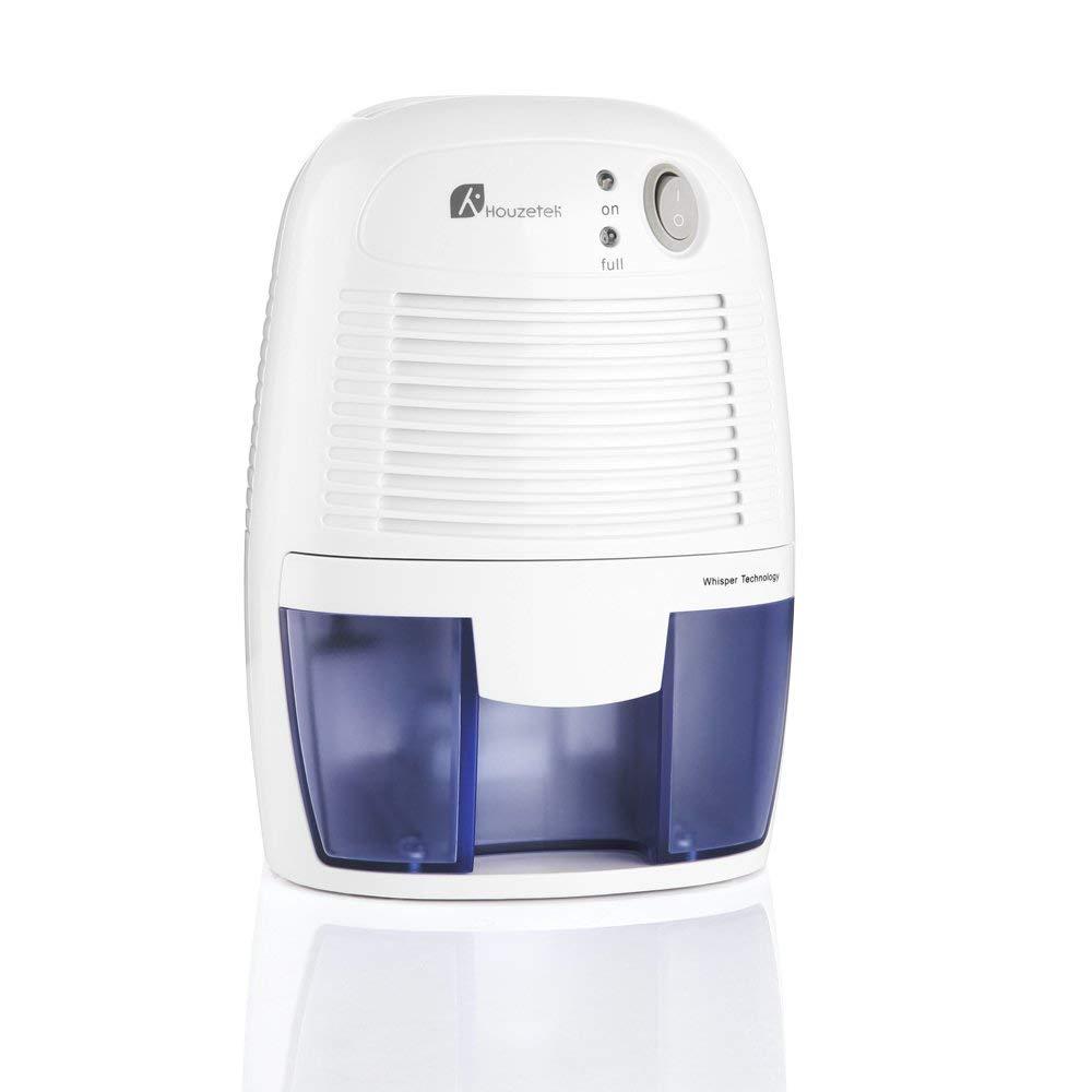 Houzetek Deshumidificador de Aire Electrico, Mini Deshumidificador 500ml Portátil y Silencioso, Purifica Aire y Evitar Bactéria y Humedad, Compacto y Ligero