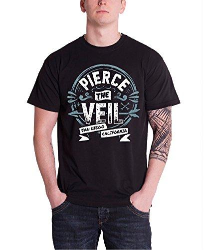 pierce-the-veil-san-diego-california-stamp-logo-offiziell-herren-nue-schwarz-t-shirt