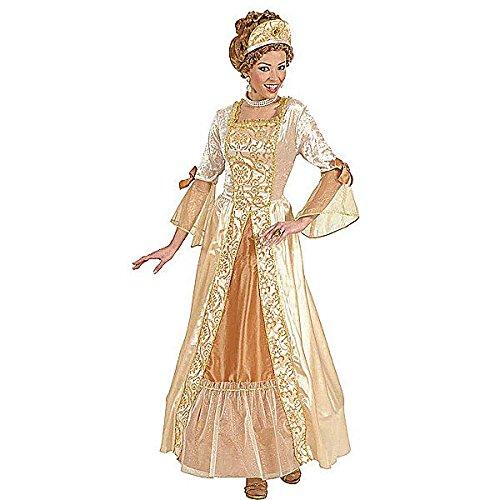(Widmann 7270G - Goldenes Prinzessin Kleid für Damen, Größe XL)