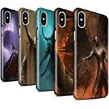 Offiziell Chris Cold Hülle / Glanz Snap-On Case für Apple iPhone X/10 / Pack 10pcs Muster / Dunkle Kunst Dämon Kollektion