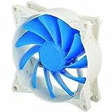 SilverStone SST-FQ122 - Série FQ Ventilateur PWM silencieux de 120mm pour ordinateur, Flux d'air performant, bleu-blanc