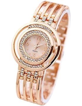 Hunpta Mode Armband Armbanduhr Runde Zifferblatt Armband Tabelle Damenuhren