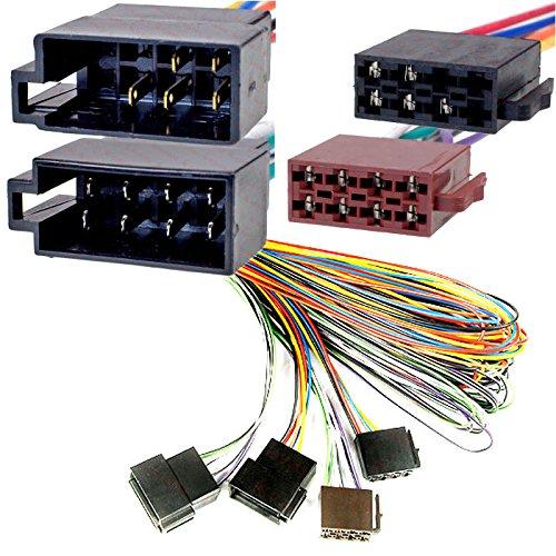 AutoScheich ISO Extensión 5 m Radio de coche Conector Cable adaptador hembra...