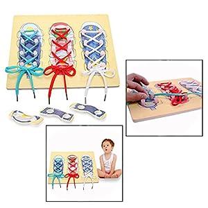 OFKPO Scarpa Allacciatura Giocattoli Educativi per Bambini, Imparano a Legare un Giocattolo Educativo di Scarpa