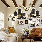 MJY Longue lustre créatif, salle de séjour Chambre à coucher Éclairage Mariage Restaurant Café Magasin de vêtements Magasin type de tige 3-15 du lustre en mode tête d'éclairage LED,B...