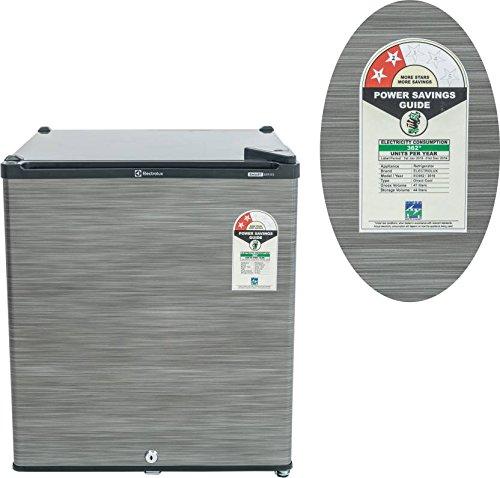Electrolux 47 L Direct Cool Single Door 2 Star Refrigerator (EC060PSH, Silver Hairline)