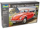 alles-meine.de GmbH VW Volkswagen Käfer Cabrio 1970 Rot Offen 07078 Bausatz Kit 1/24 Revell Modell Auto