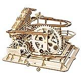 ROBOTIME Lasergeschnittenes Holzpuzzle | Bausatz Bausatz | 3D Puzzle Spiel (Wasserrad Coaster)