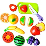 #3: Amitasha Realistic Sliceable Fruits Cutting Play Toy Set | Kitchen Playset for Kids