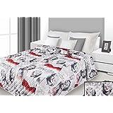 220x240 stahl weiß rot gedruckte Tagesdecke Steppbettüberwurf Marilyn Monroe Pop Art Marilyn1