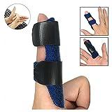 Trigger Finger Splint for All Fingers, Finger Brace - Mallet Finger Splint Support - Trigger Finger Straightening Brace-Adjustable Fixing Belt with Built-in aluminiu