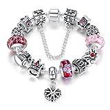 A-TE-Bracelet-Charms-Femmes-Charme-de-la-Reine-Verre-Rose-Cadeau-JW-B110-PK