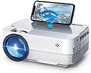 Mini Proyector,VicTsing Proyector WiFi 6000 Lúmenes,Mini Proyector Portátil de Native 720P Soporta Full HD,Pan