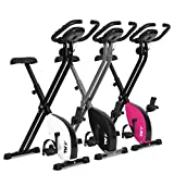 JLL VX Magnetic Resistance Foldable Home Exercise Bike (Pink)