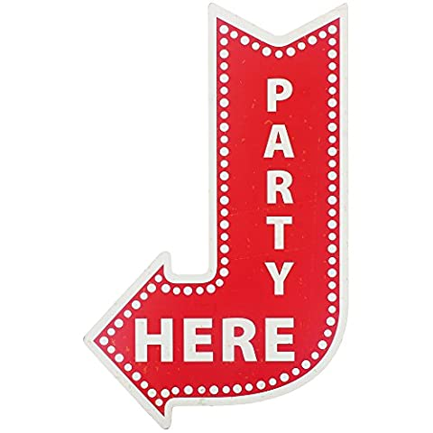 Promobo – Table American Canvas Hanging Sign Design Arrow Fun Party Here