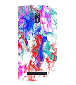 For Oppo Find 7 :: Oppo Find 7 QHD :: Oppo Find 7a :: Oppo Find 7 FullHD :: Oppo Find 7 FHD abstract art ( abstract art, olored smoke from the incese stick on a white background, abstract ) Printed Designer Back Case Cover By CHAPLOOS