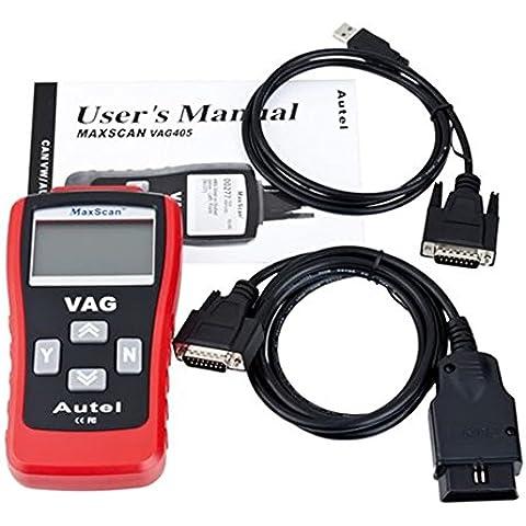 ozuzu (TM) nuovo auto scanner Can Scan Tool VAG 405, OBD2OBDII EOBD auto strumento diagnostico Autel Lettore di codice per VW/Audi Hot vendita