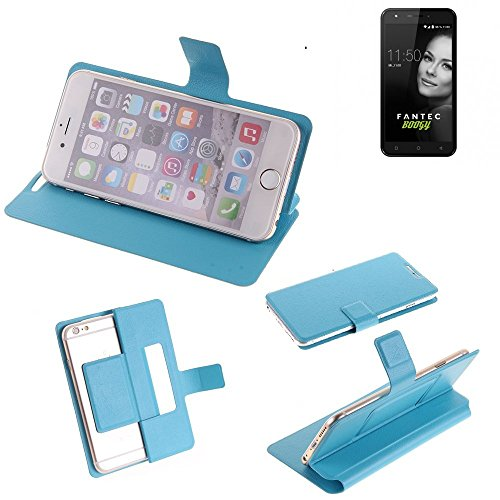 K-S-Trade Flipcover für FANTEC Boogy Schutz Hülle Schutzhülle Flip Cover Handy case Smartphone Handyhülle blau