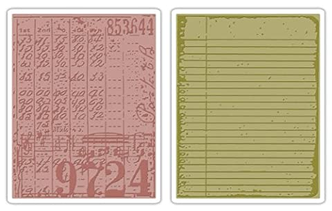Sizzix Texture Fades A2 Embossing Folders 2/Pkg-Collage & Notebook By