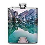 Gxdchfj Amazing View of Lago Di Braies Pragser Wildsee Most Beautiful Lake In South Tirol Dolomites New Brand 304 Stainless Steel Flask 7oz
