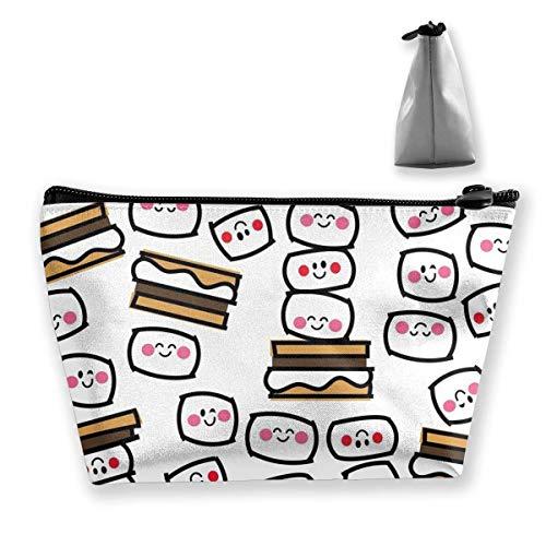 Frauen Aloha Smores Make-up Taschen Tragbarer Reißverschluss Kosmetiktasche -