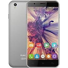 OUKITEL U7 Max Smartphone - Android 6.0, 5.5 pulgadas Pantalla, 3G WCDMA, Quad Core 1.0GHz, 1GB RAM+8GB ROM, 2MP+8MP, Cámara 2500mAh
