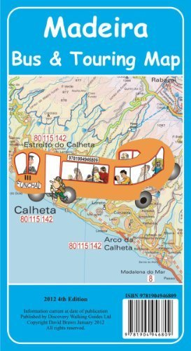 Madeira Bus & Touring Map 4th edition by David Brawn (2011-12-20)