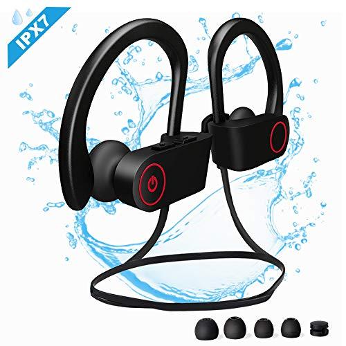 Etmury Bluetooth Kopfhörer Sport, IPX7 Wasserdichte bluetooth
