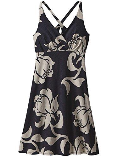 Patagonia Amber Dawn - Robe Femme - beige/noir 2017 robe adulte exotic floral black EXIB
