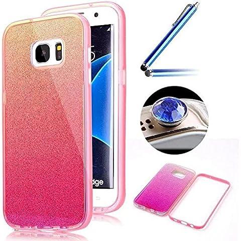 Etsue Custodia Per Samsung Galaxy S7 Edge,specchio di lusso disegno