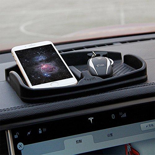 Topfit Anti-Rutsch-Handy-Pad Universal-Smartphone-Dashboard Nicht-Rutsch-Silikon-Schutt Gel-Mat-Halterung für iPhone X / 8/7 Plus Samsung Galaxy Note 8 S9 S8 Plus oder GPS-Geräte Sonnenbrillen