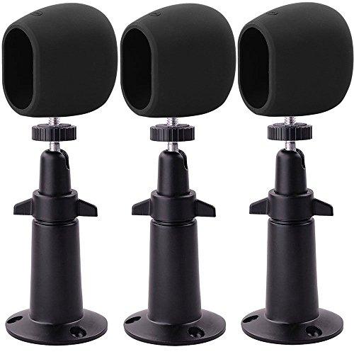 Preisvergleich Produktbild EEEKit 3pcs Sicherheit Metall Wandhalterung + 3pcs Silikon Fällen Schutzhülle, Einstellbare Indoor/Outdoor Halter für Arlo HD Kamera (3 Set Black)