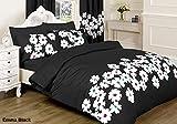 HSTEX II II Baumwollmischung 50% Polyester 50% Baumwolle Attraktive Designs, Emma Black, Pair of Matching Curtains (66