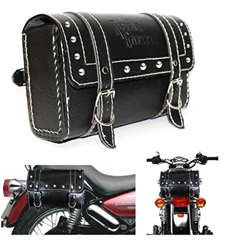 delhi traderss bike leatherette bag square shape for royal enfield thunderbird 350 (black) Delhi Traderss Bike Leatherette Bag Square Shape for Royal Enfield Thunderbird 350 (Black) 51sP9S6OVPL
