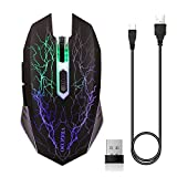ZTTOC Kabellose Gaming Maus Wiederaufladbare Maus für PC Laptop Mac