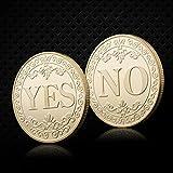 Haorw JA oder Nein Münze GEDENKMÜNZE & zum Sammeln Geschenk, 4 Farben (4)