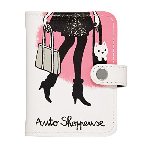 Porte-cartes FOLK Shoppeuse - rose - dlp