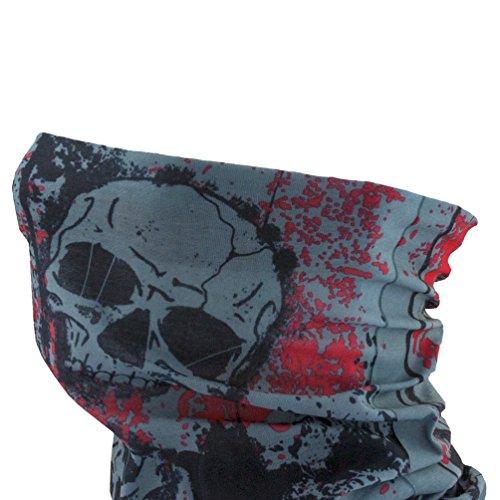 Oblique Unique Damen/Herren Mikrofaser Multifunktionstuch K-150 (Head with Red)