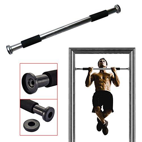 ROVATE® Barre de Traction Ajustable de Porte pour Exercices de Musculation 60-100CM Fixer dans les Cadres de Porte