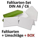 Doppelkarten inklusive Briefumschläge mit Geschenkschachtel!